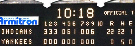 Yankees Scoreboard